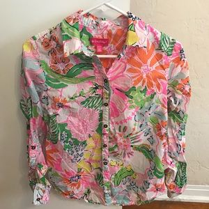 Lilly Pulitzer for Target Button up shirt